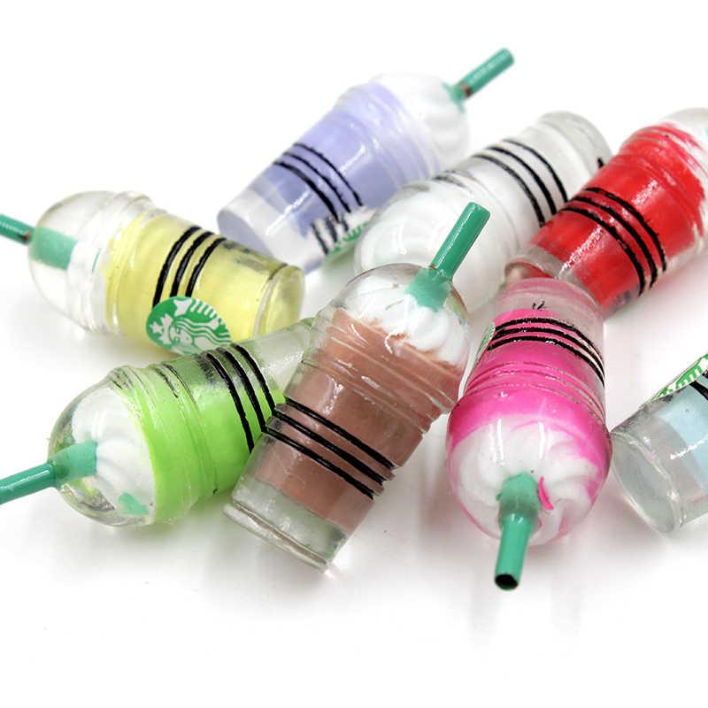 กาแฟถ้วยฟางสำหรับ Slime นอกจากนี้เรซิ่น Charms Filler อาหารน้ำแข็งครีม Polymer Clay Slime อุปกรณ์เสริมชุดของเล่นสำหรับเด็ก