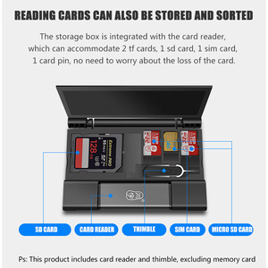 Image 2 - USB3.1 memory card box card reader OTG Multi function card reader SD TF dual card slot USB/Type C/MicroUSB interface