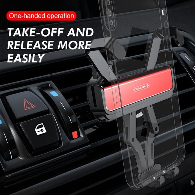 Jellico support pour téléphone Mobile support pour voiture support de gravité support dévent support de monture de support accessoires Telefon Tutucu
