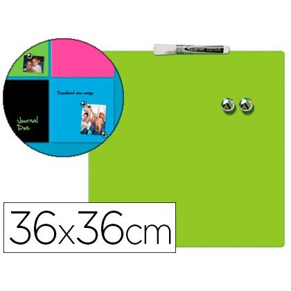 SLATE REXEL HOME MAGNETICA THERAPY 360X360 MM GREEN COLOR INCLUDE MARKER AND 2 MAGNETS