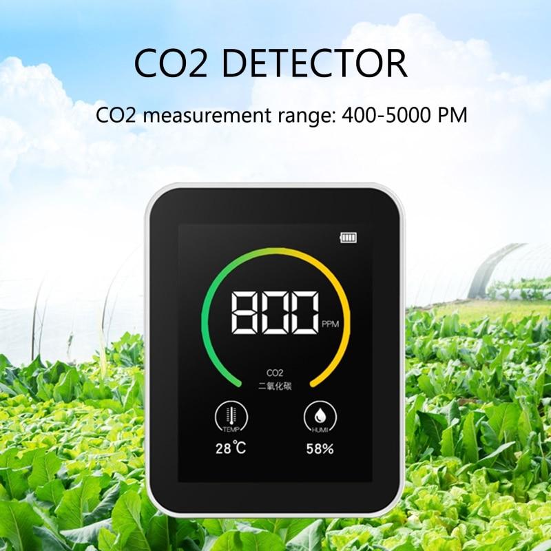 Измеритель Co2, датчик Co2, датчик концентрации газа, цветной экран, умный тестер воздуха TFT, монитор качества воздуха 400-5000 PPM