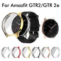 Funda protectora + cristal para Amazfit GTR 2e GTR 2, funda protectora de pantalla completa para Xiaomi Huami Amazfit GTR2/2e, fundas de TPU