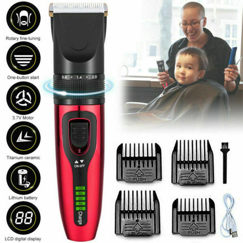 Mens Electric Trimmer Cutter Hair Clipper Cutting Machine Beard Barber Razor Kit Less Working Noise Professional Barber Tools