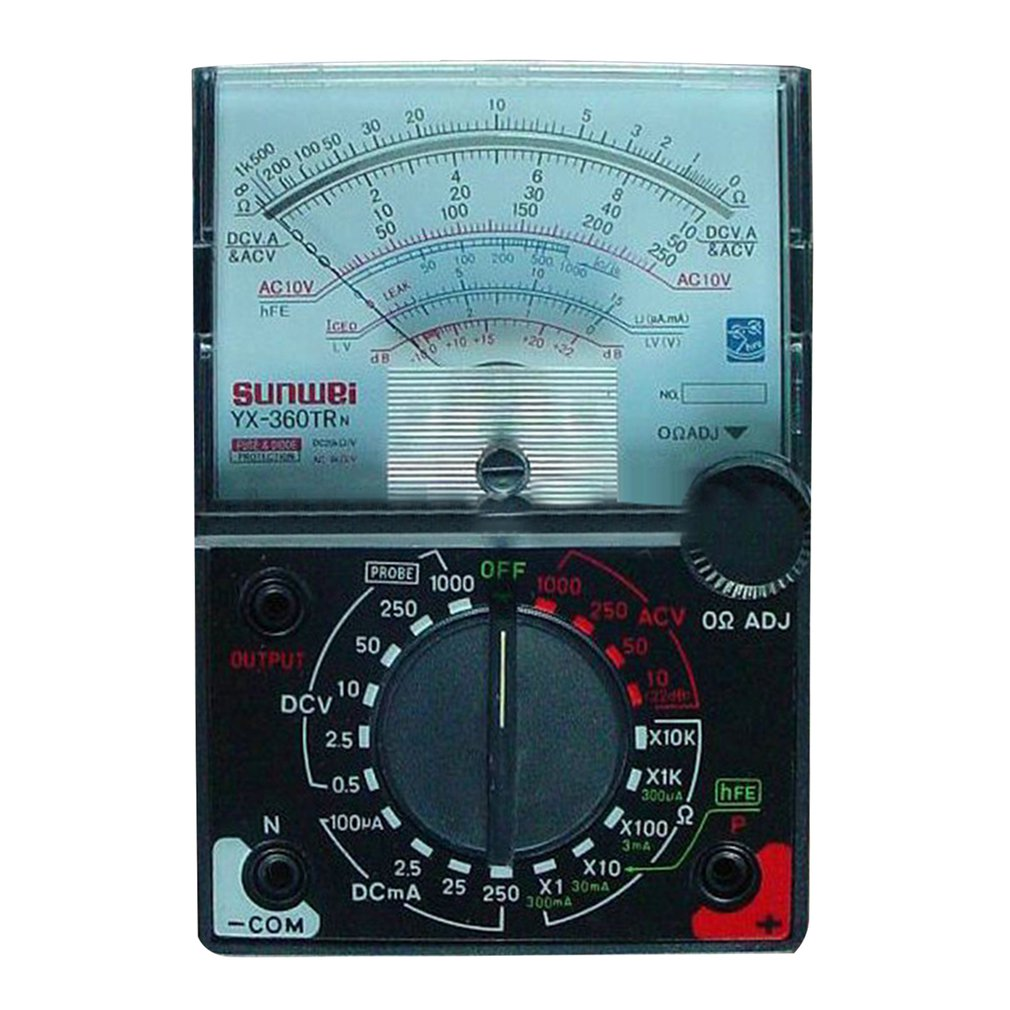 YX-360TRn Analog Multimeter Plastic Gauge Shell AC DC Volt Ohm Current Testing Mutimeter Electrical Pointer Multitester