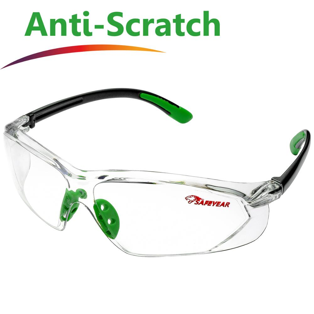 SAFEYEAR Safety Glasses Z87+ Lab Work Protective Anti-fog Seal Eye Protection Goggles Work Glasses Anti-scratch