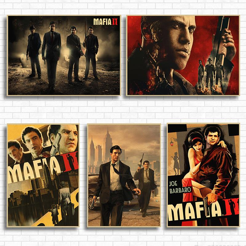 Mafia III Classic Exciting Game Game Kraft Paper Poster Living Room Home Wall Decoration Retro Poster