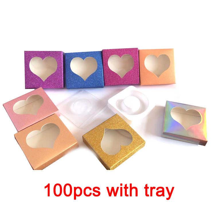 10pcs all'ingrosso ciglia scatola di imballaggio scatole di imballaggio logo personalizzato faux visone sferza ciglia piazza lollipop rotondo vuoto caso