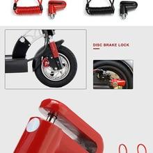 Scooter-Lock Disc-Brake Skateboard-Wheels Steel-Wire Anti-Theft-Disc Xiaomi M365