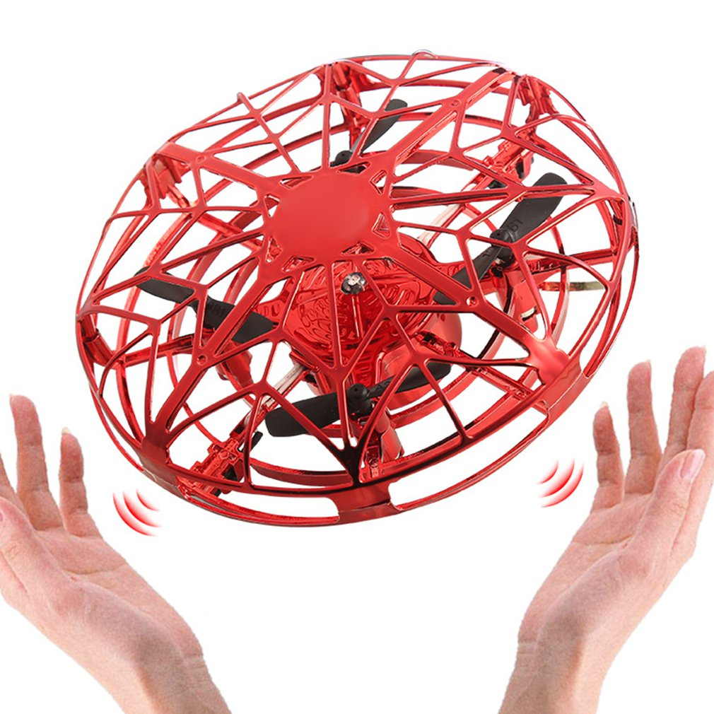 Mini Flying Helicopter UFO RC Drone Hand Sensing Aircraft Electronic Model Quadcopter Flayaball Toys Small Drohne For Children