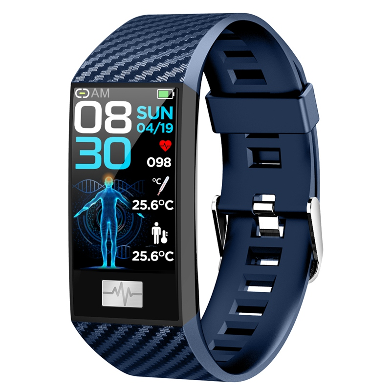 DT NO.1 <font><b>DT58</b></font> Pro 24 Hour Temperature Monitor Wristband Fitness Tracker Weather Outdoor Health <font><b>Smart</b></font> <font><b>Watch</b></font> Band for Android IOS image