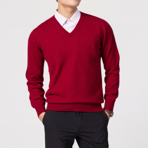 Mens Sweater Hiking Shirst Male Hot Sale Wool Fabric Top Qulity V Neck Sweaters For Men Shirts SYY08(China)