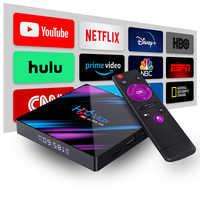 Smart tv conjunto superior caixa android 9.0 9 4k 4096x2160 hdr bluetooth4.0 usb 3.0 hdmi 2.0a para 4k @ 60 hz ddr3 suporte 3d vídeo 2.4g/5g h96