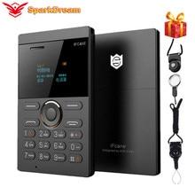 Unlocked Ifcane E1 Small Mobile Phone 0.96 Inch Sim Slim Ultra Credit Card Stude