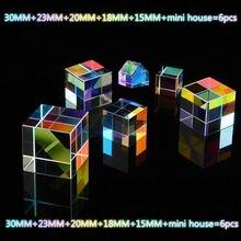 Farbe Prism 6 Kombination Set Flawless Sechs Helle Kristall Cube Geburtstag Geschenk Regenbogen Foto