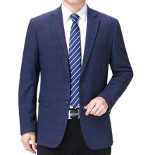 Suits Costume Blazers Men Clothing Business Long-Sleeve Plaid Party Formal Luxury Homme