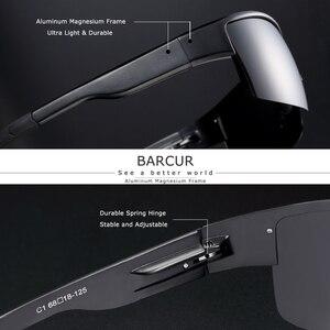 Image 2 - Barcur 半リムレス偏光アルミニウムマグネシウムサングラススポーツサングラス男性女性 oculos gafas デゾル
