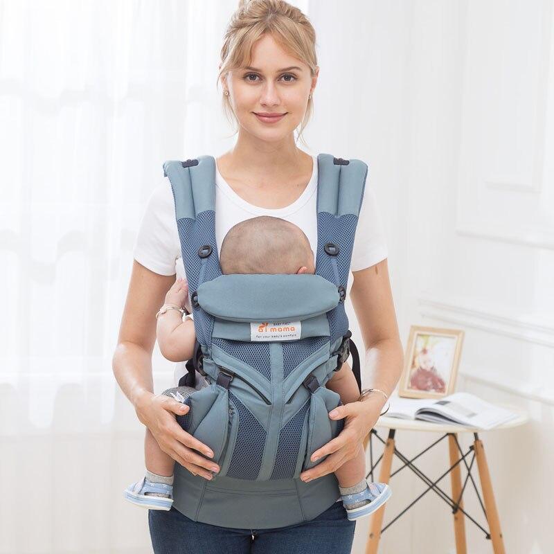 Aimama 0-36 mois 360 sacs à dos ergonomiques en coton à air froid réglables pour porte-bébé