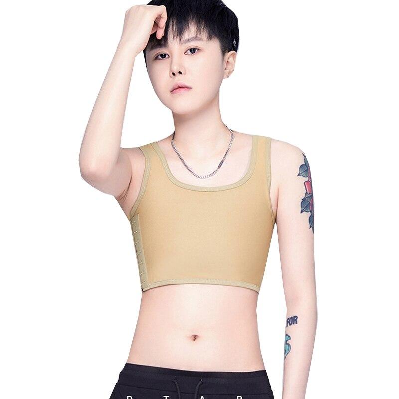 HaleyChan 3 рядов крючков с дышащей сеткой размера плюс груди в кожаном переплете Tomboy Trans лесби женскую одежду FTM Корсет Топ на бретелях