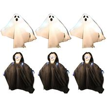 Halloween Props Colorful Lights Into The Small Ghost Black White Decorative Outdoor Bar Haunted House