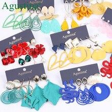 Agustina – ensemble de boucles d'oreilles rouge, Boho, goutte d'eau, bijoux à la mode pour femmes, bohème, longues, bleu