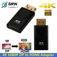 4K DisplayPort zu HDMI Adapter Konverter Display Port DP zu HDMI Weibliche HD TV Kabel Adapter Video Audio für PC TV Projektor