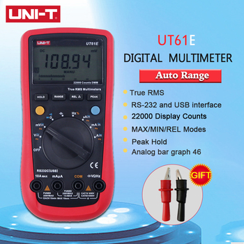 UNI-T UNI T UT61E Digital Multimeter Meter Ture RMS Auto Range AC DC Voltage Tester 22000 Counts Data Hold High Reliability