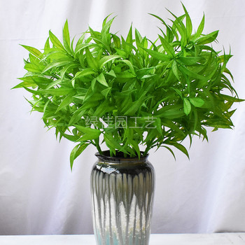 Spray Color Artificial Plant Long Brush Holder Plastic beating the princess jin zhi yu ye Soft Silcone Handfeel tai xian cao Pla image