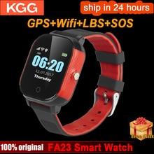 FA23 חכם תינוק שעון IP67 עמיד למים ילדי SIM כרטיס מסך מגע GPS WIFI SOS Tracker ילדים שעון מעורר אנטי אבוד Smartwatch