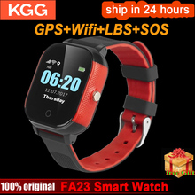 FA23 inteligentny zegarek dla dzieci IP67 wodoodporne dzieci karty SIM ekran dotykowy GPS WIFI SOS Tracker dla dzieci budzik zegarek Smart anti lost
