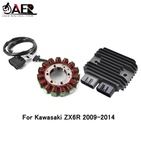 JAER Regulator Rectifier and Magneto Stator Coil Generator Alternator for Kawasaki ZX6R ZX 6R 2009 2014 2010 2011 2012 2013