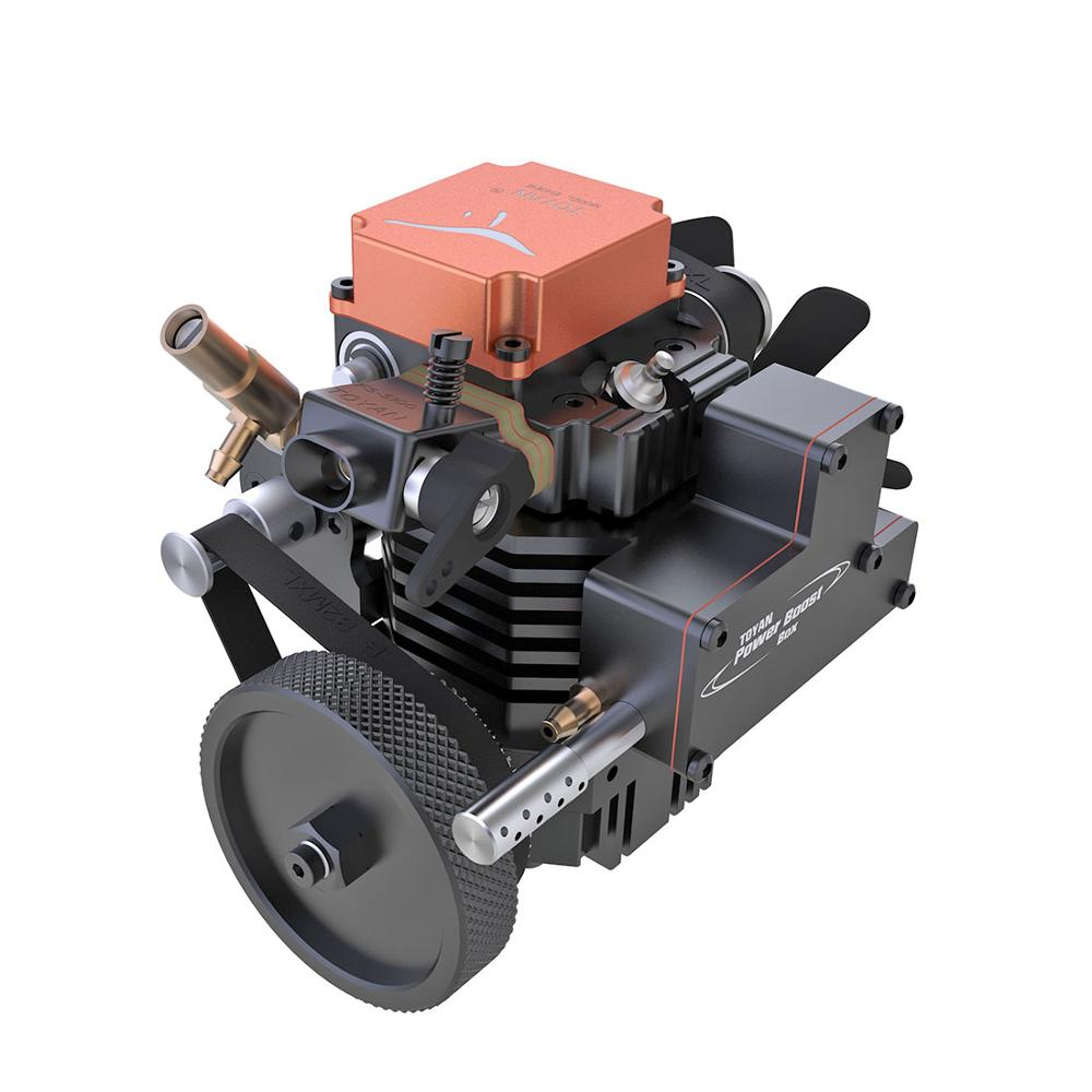 Toyan  Four Stroke Methanol Model Engine With Starting Motor For 1:10 1:12 1:14 RC Car Boat Airplane - FS-S100A