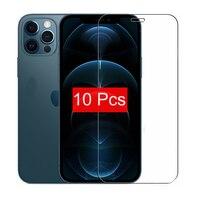 10 5 3 1 pz/lotto vetro temperato per iPhone 12 Mini 11 Pro X XS MAX 6 6s 7 8 Plus 4s 5 5s SE pellicola proteggi schermo