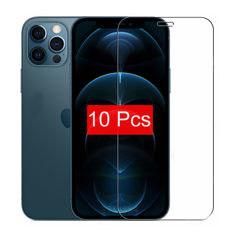 10 5 3 1 Teile/los Gehärtetem Glas Für iPhone 12 Mini 11 Pro X XS MAX 6 6s 7 8 Plus 4s 5 5s SE Screen Protector Film Schutz Fall