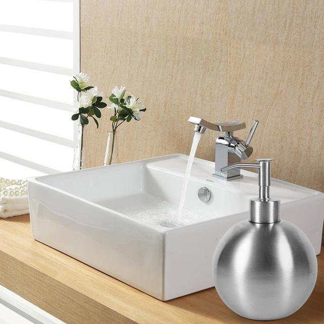 350/500ml Stainless Steel Soap Dispenser Manual Liquid Soap Shampoo Lotion Shower Gel  Sanitizer Pump Bottles Dispensador