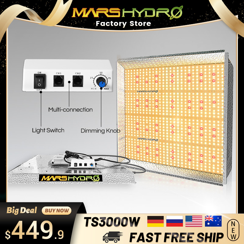 Mars Hydro TS <font><b>3000W</b></font> Full Spectrum <font><b>Led</b></font> <font><b>Grow</b></font> <font><b>Light</b></font> Indoor Sunlike Quantum Board <font><b>Led</b></font> <font><b>Grow</b></font> Lamp For Plants Seed Greenhouse <font><b>Grow</b></font> Tent image