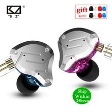 KZ ZS10 פרו 4BA + 1DD HIFI מתכת אוזניות היברידי ב אוזן אוזניות ספורט רעש מבטל אוזניות KZ ZSN פרו לZST AS16 AS12 AS10 C16