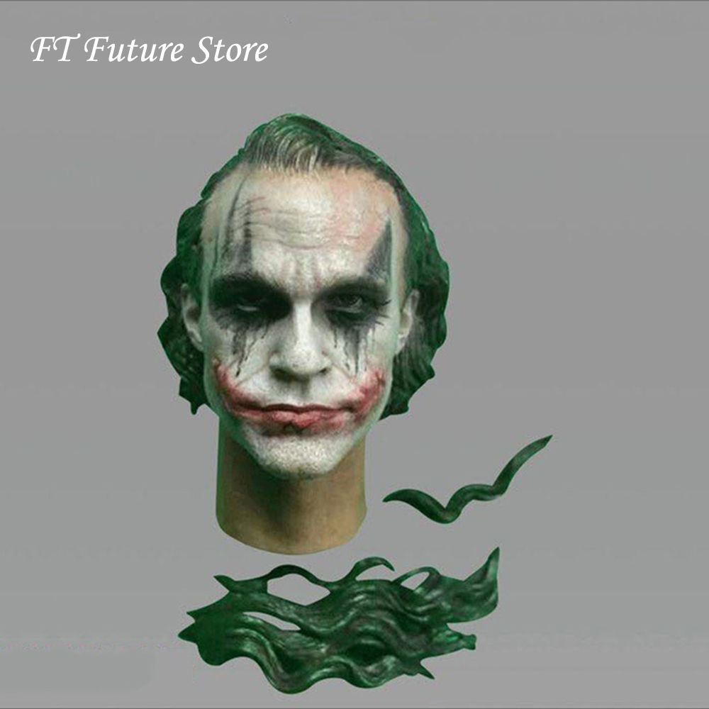 Cgl-09c 1/6 Scale Male Figure Accessory Batman Clown Head Makeup joker Head Sculpt Carved Accessory Model for 12 inches Body