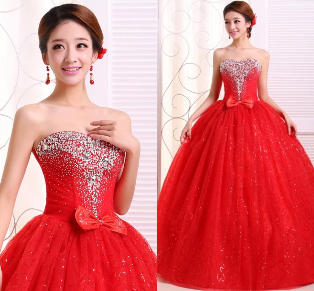 Paillettes rouges robes pour Quinceanera bretelles perles Vestidos De Gala Largos bal robes De bal mascarade bouffante robes De bal