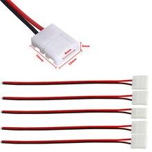 10 pçs/lote sem solda 2 pinos led strip conectores 8 mm 10 mm conector de fio de alimentação para 3528/5050 led strip fio pcb fita