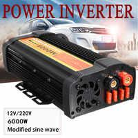 Dual USB Max 12000 Watts 6000W 12 V de Potência Do Inversor DC para AC 220 Volts Conversor de Adaptador de Carga Do Carro modificado Onda Senoidal Transformador