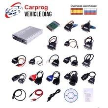 Carprog V10.0.5 V8.21 автомобильный прог ECU Чип Tunning инструмент для ремонта автомобиля Carprog программатор со всеми 21 адаптерами автомобильный диагностический инструмент