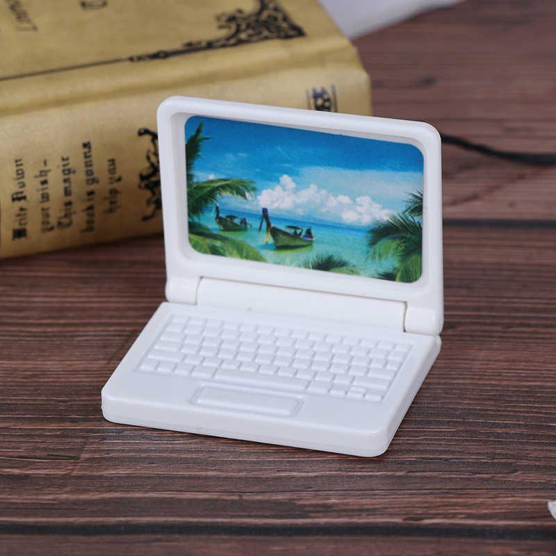 Creatieve Gift Poppenhuis Miniatuur Moderne Computer Meubels Voor Kinderen Speelgoed Meubels Voor Poppen Laptop Computer Willekeurige Kleur