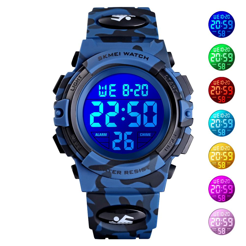 SKMEI Children Digital Watch Kids Boys Outdoor Sport Watches Multifunction Student Electronic Wristwatch Girls Waterproof Clock