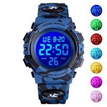 цена на SKMEI Children Digital Watch Kids Boys Outdoor Sport Watches Multifunction Student Electronic Wristwatch Girls Waterproof Clock