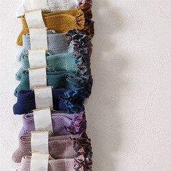 EnkeliBB Новые поступления, красивые носки без пятки с цветочным рисунком для маленьких девочек, весенне-летние кружевные носки средней длины, ...