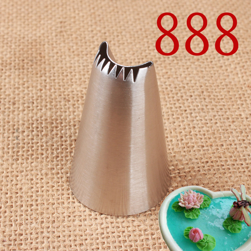 Lotus Flower Cream Nozzles Large Pastry Nozzle Cake Decorating Tips Icing Piping Nozzles Kitchen COokies Baking Tools #888
