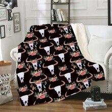Красочные Печатные двусторонняя супер мягкий уютный теплый плюш пледы Одеяло для кровать диван кресло