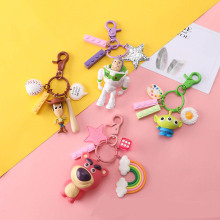 Movie Toy Story 4 Woody Aliens Buzz Lightyear Bear PVC Action Figure Toy Doll Cute Keychain Key Chain Ring Kids Gift B734 недорго, оригинальная цена