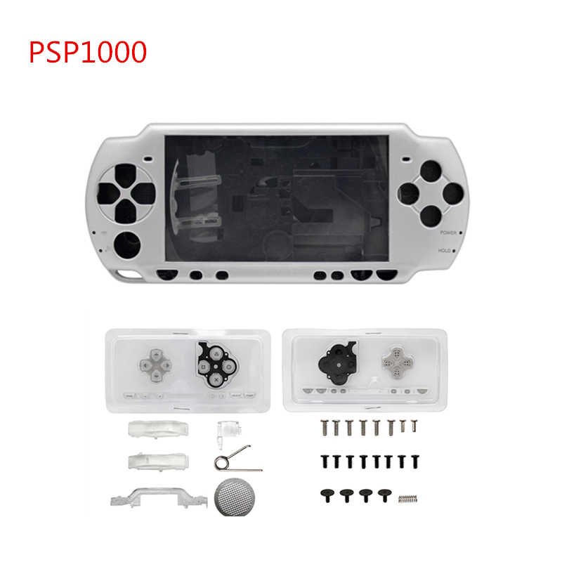 Full Housing Shell Case Cover Replacement for PSP 1000 PSP1000 with Buttons Kit-Red