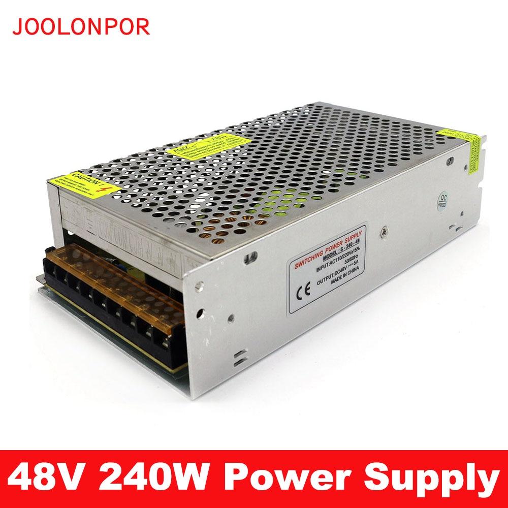 DC 48V conmutación SMPS transformador de fuente de alimentación AC 110 / 220V a DC 48V 5A 240W adaptador de fuente de alimentación para controlador de iluminación LED